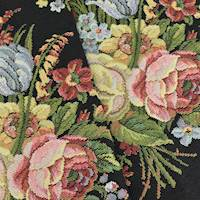 *3 1/2 YD PC - Pink/Black/Multi Texnova Floral Tapestry Decorating Fabric
