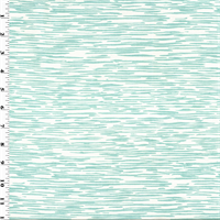*2 YD PC - Sea Foam Blue Stripe Texture Print Sateen  Decorating Fabric