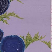 Lilac/Sapphire Floral Silk Dupioni