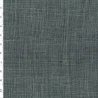 *2 1/2 YD PC - Gunmetal Gray Washed Linen Libeco Slub Woven Decor Fabric