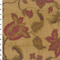 *6 YD PC -- Designer Beige/Red Praline Esme Chenille Home Decorating Fabric