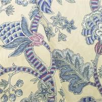 *12 YD PC -- Ivory/Multi P/Kaufmann Floral Print Jacquard Decor Fabric
