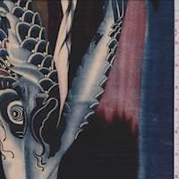Black Lagoon Koi Print Silk Twill