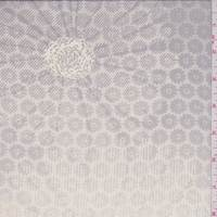 Buff/Grey Floral Medallion Silk Chiffon