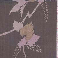 Black/Pink Vine Silk Chiffon