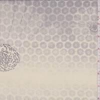 Buff/Grey Medallion Silk Georgette