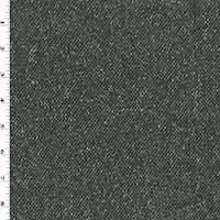 *1 1/4 YD PC--Black/Gray/White Wool Texture Twill Jacketing