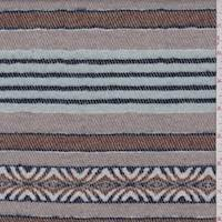 *1 7/8 YD PC--Taupe/Tobacco Twill Flannel Jacketing