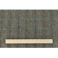*1 YD PC--Gray/Brown/Multi  Brush Wool Plaid Twill Jacketing