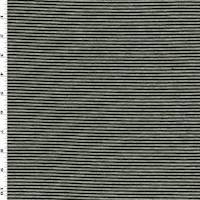 *2 3/8 YD PC--Black/Gray Stripe Jersey Knit