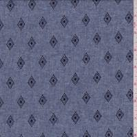*2 5/8 YD PC--Heather Navy Diamond Kite Chambray