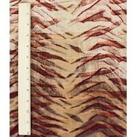 *3 YD PC--Tanned Beige/Garnet Tiger Stripe Velvet Knit