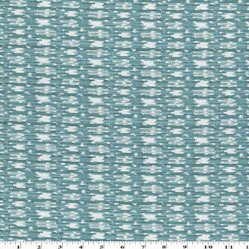 *1 7/8 YD PC - Deep Teal/White Texture Home Decorating Fabric