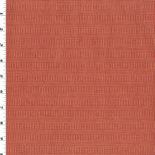 *8 3/8 YD PC - Red/Orange Cotton Rib Stripe Home Decorating Fabric