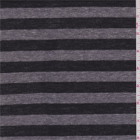 *3 1/8 YD PC--Black/Grey Stripe T-Shirt Knit