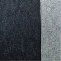*1 3/8 YD PC--Dark Blue Cotton Slub Japanese Selvedge Denim