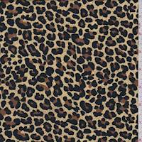 *2 1/2 YD PC--Golden Beige Cheetah Rayon Challis