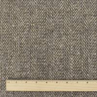 *1 3/8 YD PC--Brown/Beige/Gray Wool Herringbone Tweed Coating
