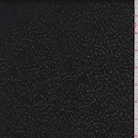 Black Patent Metallic Crinkle Jacquard