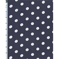 *2 5/8 YD PC--Navy/White Oval Polka Dot Hi-Multi Chiffon