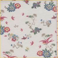 Ivory Multi Floral Cluster Jersey Knit