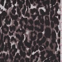 *3 YD PC--Dark Cocoa/Black Cheetah Print Stretch Twill