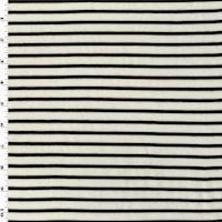*2 1/2 YD PC--Powder White/Black Stripe Jersey Knit