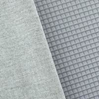 Pebble Gray Gridded Fleece Double Knit