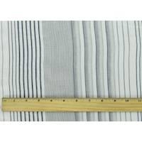 *2 3/8 YD PC--Navy/White Cotton Stripe Voile