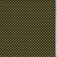 *2 1/2 YD PC--Black/Yellow Ditzy Yellow Double Knit