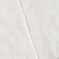 Powder White Double Sided Sherpa Fleece Knit