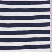 *3 3/4 YD PC--Navy/White Stripe Rayon Jersey Knit