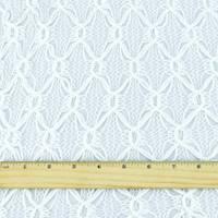 *1 5/8 YD PC--White Diamond Trellis Crochet Lace