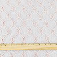 *3 5/8 YD PC--Champagne Pink Diamond Trellis Crochet Lace