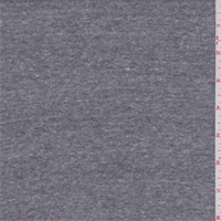 *2 1/2 YD PC--Dark Heather Grey Interlock Knit