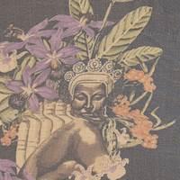 *4 YD PC--Polynesian Portrait Silk Chiffon