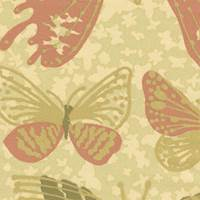 *5 YD PC--Butterfly Silk Crepe de Chine