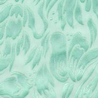 *5 1/2 YD PC--Cool Mint Satin Floral Silk Burnout