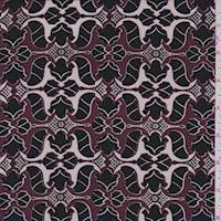 *4 YD PC--Port Mini Baroque Silk Crepe de Chine
