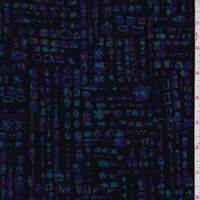 *1 YD PC--Black/Purple/Teal Mosaic Slinky Knit