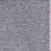 *3 YD PC--Dark Heather Grey White T-Shirt Knit