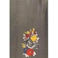 *3 PANELS--Dragon/Floral  Pinstripe Stripe Silk Crepe de Chine