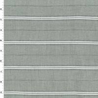 *4 YD PC--Gray/White Stripe Twill Shirting