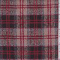 Peach/Walnut Plaid Wool Flannel Coating