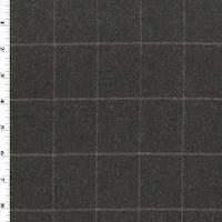*3 5/8 YD PC--Brown Wool Blend Grid Jacketing
