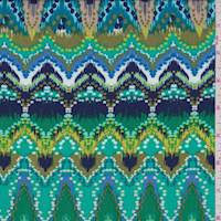 *4 1/2 YD PC--Kelly Multi Moroccan Rayon Challis