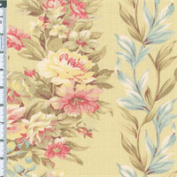 *8 YD PC--American Folk & Fabric Cotton Antique Collection Textured Kristyn Bouquet Floral