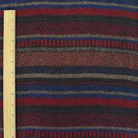 *3 1/2 YD PC--Red/Blue/Multi Brush Dobby Stripe Jacketing