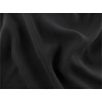 *2 YD PC--Jet Black Double Weave Crepe