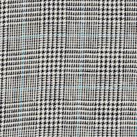 *6 YD PC--Ivory/Black/Blue Plaid Suiting